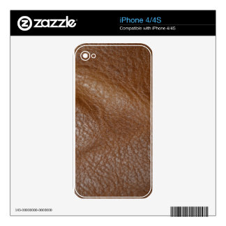 2D Photo-sampled Faux Leather-look Design Skin For The iPhone 4S