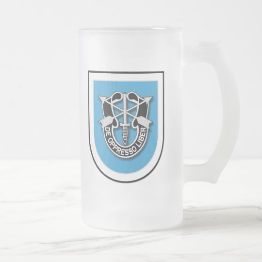 2d SFG-A 1 and Reserves Frosted Glass Beer Mug