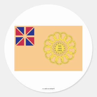 2da bandera del regimiento de New Hampshire Etiqueta Redonda