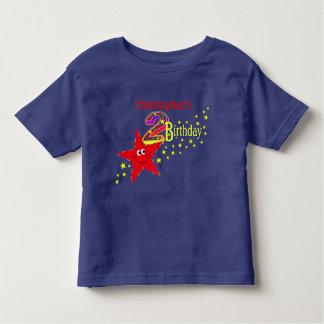 2da camisa del cumpleaños de la estrella sonriente