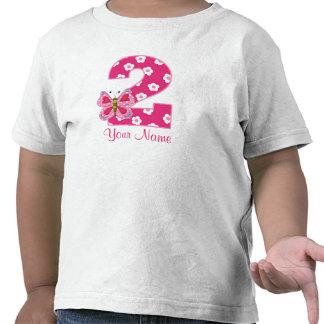 2da camisa personalizada mariposa rosada del