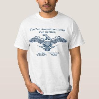 2da camiseta de la enmienda