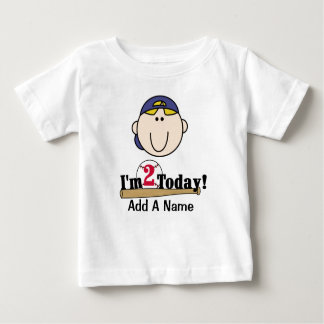 2da camiseta del cumpleaños del béisbol rubio del