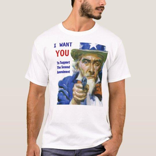 2da camiseta del Favorable-Arma de la enmienda del