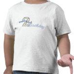 2da camiseta feliz del azul del cumpleaños