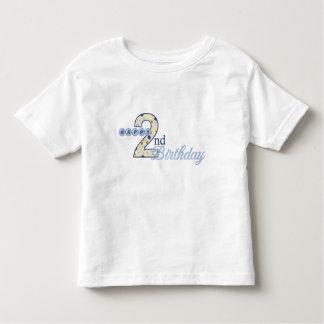 2da camiseta feliz del azul del cumpleaños remeras