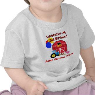 2da camiseta personalizada del cumpleaños de la gr