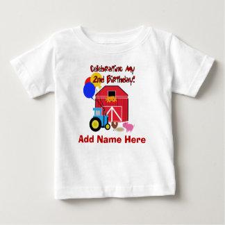 2da camiseta personalizada del cumpleaños de la