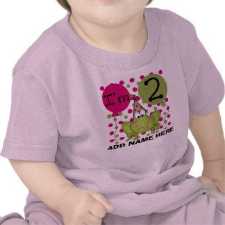 2da camiseta personalizada del cumpleaños de la ra