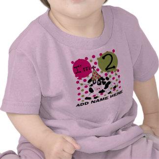 2da camiseta personalizada del cumpleaños de la va