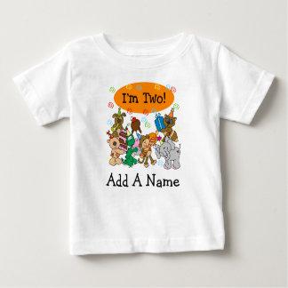 2da camiseta personalizada del cumpleaños de los