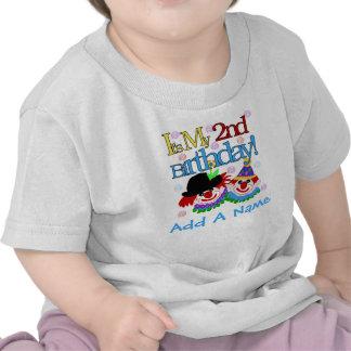 2da camiseta personalizada del cumpleaños de los p