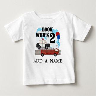2da camiseta personalizada del cumpleaños de los poleras