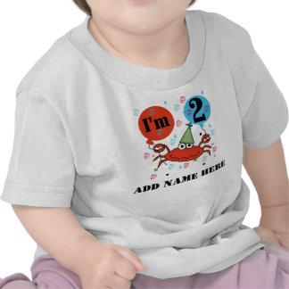 2da camiseta personalizada del cumpleaños del cang