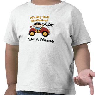 2da camiseta personalizada del cumpleaños del coch