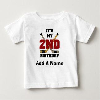 2da camiseta personalizada del cumpleaños del polera
