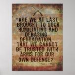 2da cita de la enmienda de Patrick Henry Poster