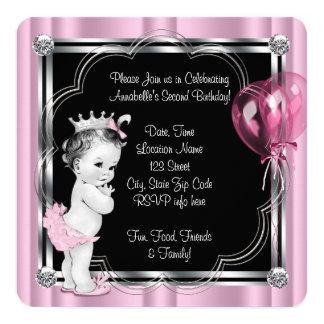 """2da cumpleaños fiesta de la princesa invitación 5.25"""" x 5.25"""""""
