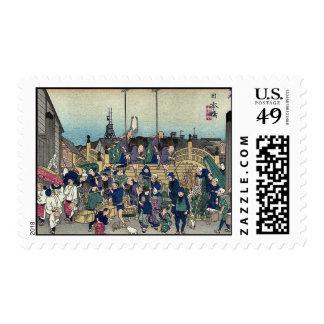 2da edición de Nihonbashi por Ando, Hiroshige Sellos