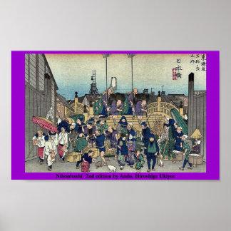 2da edición de Nihonbashi por Ando, Hiroshige Ukiy Poster