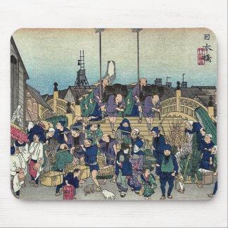 2da edición de Nihonbashi por Ando, Hiroshige Ukiy Tapete De Ratones