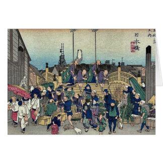 2da edición de Nihonbashi por Ando, Hiroshige Ukiy Tarjetas