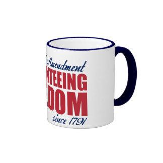 2da enmienda - garantizando la libertad desde 1791 taza