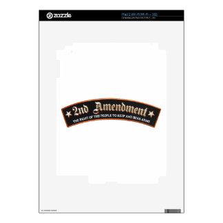 2da enmienda iPad 2 calcomanías