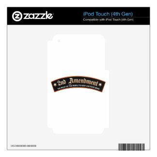 2da enmienda iPod touch 4G calcomanía