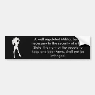 2da enmienda pegatina para auto