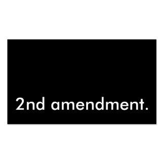 2da enmienda tarjetas de visita