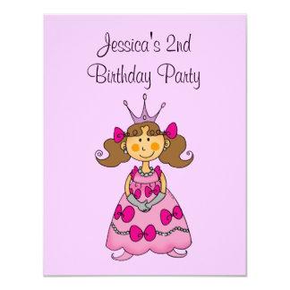 2da fiesta de cumpleaños de la princesa rosada comunicado personalizado