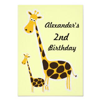 """2da fiesta de cumpleaños del bebé lindo de las invitación 5"""" x 7"""""""
