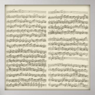 2da habitación del violoncelo de Bach, varias pági Posters