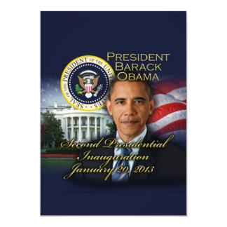 """2da inauguración de presidente Obama Invitación 5"""" X 7"""""""