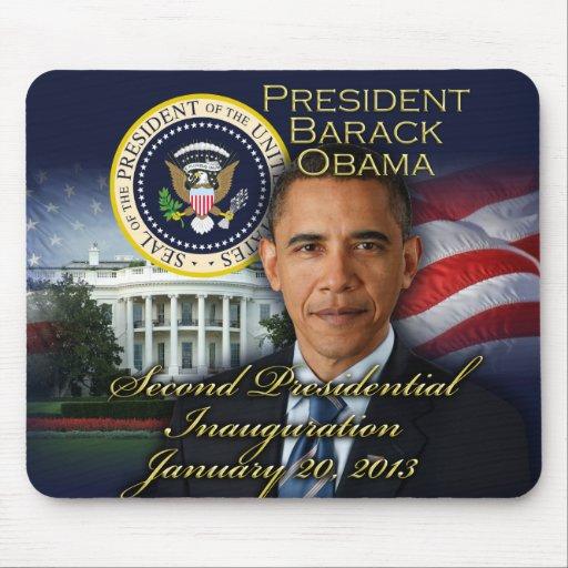 2da inauguración de presidente Obama Alfombrillas De Ratones