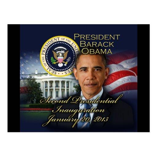 2da inauguración de presidente Obama Tarjeta Postal