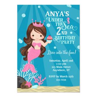 2da invitación del cumpleaños de la sirena
