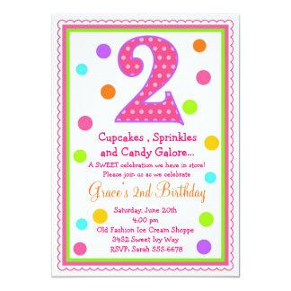 2da invitación del cumpleaños de la sorpresa dulce