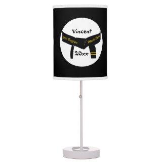 2da lámpara de encargo de la correa negra del grad