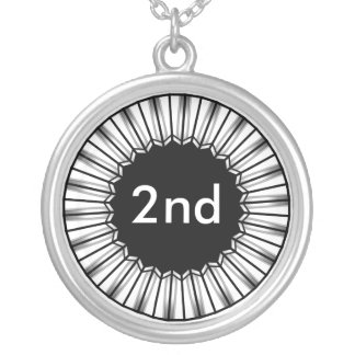 2da medalla de plata del ganador del lugar del colgante redondo