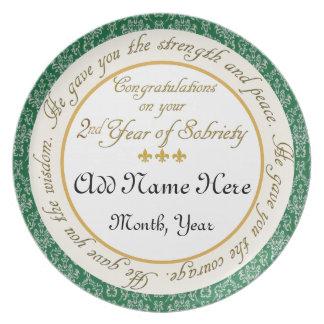 2da placa personalizada del aniversario de la sobr platos de comidas