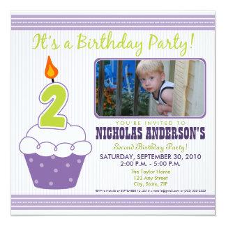 2da púrpura de la invitación de la fiesta de