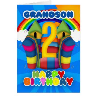2da tarjeta de cumpleaños del nieto con el castill