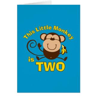 2da tarjeta del muchacho del cumpleaños del pequeñ