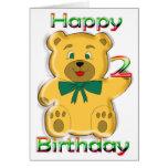 2da tarjeta feliz del oso de peluche del
