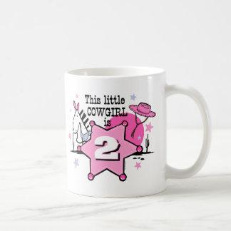 2da taza de Birthay de la pequeña vaquera