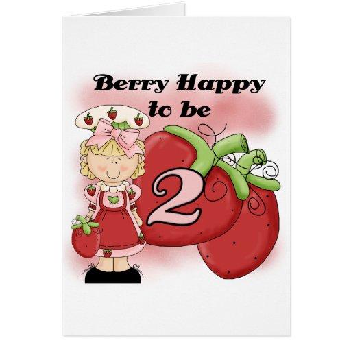 2das camisetas y regalos del cumpleaños de la baya tarjeta de felicitación