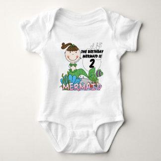 2das camisetas y regalos del cumpleaños de la mameluco de bebé