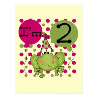 2das camisetas y regalos del cumpleaños de la rana postales